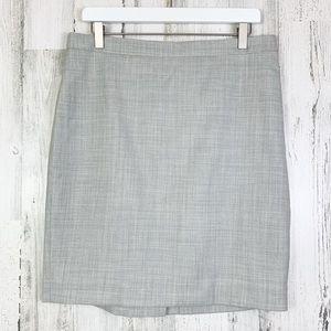 J. Crew Grey Wool No. 2 Pencil Career Suit Skirt